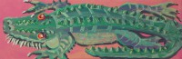 Ally-Gator by Gail Cleveland12×36 Acrylic $750.00+ tax and S&H