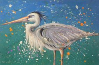 Great Blue Heron by Gail Cleveland