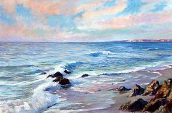 Evening Sea by Wini Smart24x36 oil $3200.00 + tax and S&H