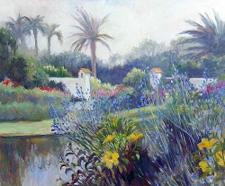 Island Garden by Wini Smart30x40 oil $3200.00 + tax and S&H