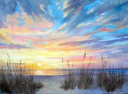 Sunset Glory by Wini Smart30x40 oil $3800.00 + tax and S&H