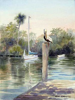 """Boca Bayou by Wini Smart16"""" x 20"""" watercolor, $1800.00 + tax and S&H"""