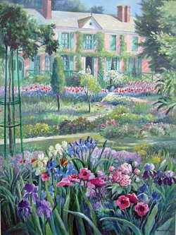 """Clos Normand, May by Wini Smart36"""" x 48"""" watercolor, $4600.00 + tax and S&H"""
