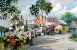 """Crab Traps Everglade City by Wini Smart24"""" x 30"""" oil, $3600.00 + tax and S&H"""