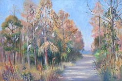 """Cypress Roost by Wini Smart24"""" x 36"""" oil, $2800.00 + tax and S&H"""