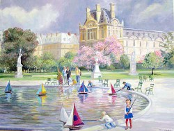 """Jarden Des Tuileries by Wini Smart36"""" x 48"""" oil, $4600.00 + tax and S&H["""