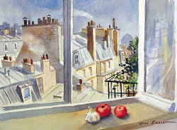 """Rooftops in Paris by Wini Smart18"""" x 23"""" watercolor, $1300.00 + tax and S&H"""