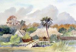 """The Village by Wini Smart18"""" x 23"""" watercolor, $1200.00 + tax and S&H"""