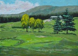 14th Green Northeast Harbor Club by Gail Cleveland - Acrylic 30x40 $3500