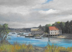 """Bernard Boathouses by Wini Smart18""""x24"""" Oil $1900  + tax and S&H"""
