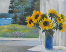 """Blue Vase by Wini Smart 16""""x29"""" Oil $1600  + tax and S&H"""