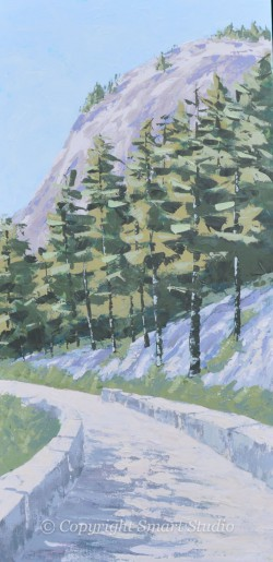 Carriage Road Northeast Harbor by Gail Cleveland | Acrylic 24x48 $3500