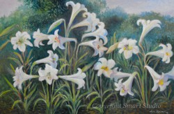 """Field of Lilies by Wini Smart24""""x36"""" Oil $3500  + tax and S&H"""