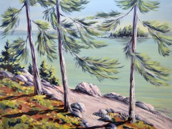 Green Lake by Gail Cleveland | Acrylic 30x40in $3500