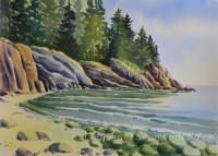 Hunters Beach by Gail Cleveland| Water Color 22x30 $2200