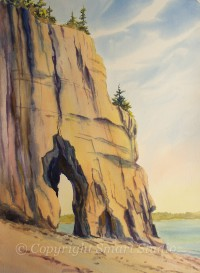 Key Hole Rock by Gail Cleveland| Water Color  22x30 $2200