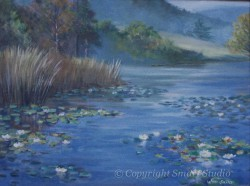 """Lily Pond, Seal Harbor by Wini Smart 18""""x24"""" Oil $2400  + tax and S&H"""