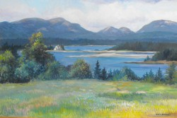 """Mountain view, Cranberry Island by Wini Smart 24""""x36""""  Oil $3600 + tax and S&H"""