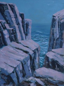 Otter Clifffs by Gail Cleveland |Acrylic 30x40in $3700