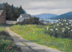 """Path to Post Office by Wini Smart  18""""x24"""" Oil $2400  + tax and S&H"""