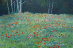 """Poppy Field by Wini Smart 24""""x36"""" Oil $3600  + tax and S&H"""