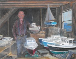 """Retired Boat Builder by Wini Smart 16""""x20"""" Oil $1800  + tax and S&H"""