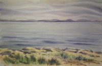 Soothing Seas, MDI by Gail Cleveland | Water Color 38x58 $7500