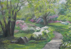 """Spring Greens by Wini Smart30""""x40"""" Oil  $3950  + tax and S&H"""