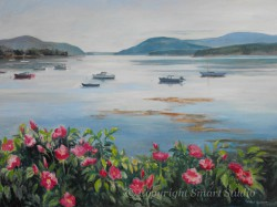 """Still Morning, Manset by Wini Smart  30"""" x40"""" Oil  $3950  + tax and S&H"""