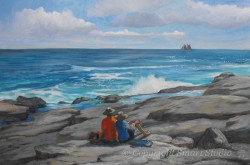 Surf Watchers by Wini Smart  Oil 24x36 $3800  + tax and S&H