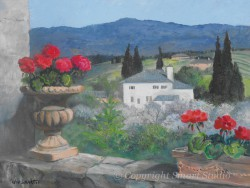"""Tuscan View by Wini Smart 24"""" x 30"""" oil, $2800.00 + tax and S&H"""