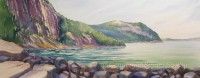 Valley Cove by Gail Cleveland | Water Color 22x58 $3000