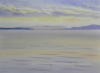Western Way Sunset by Gail Cleveland | Water Color 22x30 $3200
