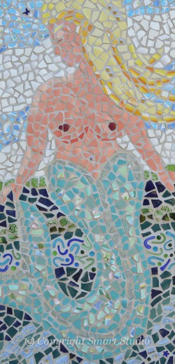 Mermaid by Gail Cleveland | Mosaic 24x48 $2400