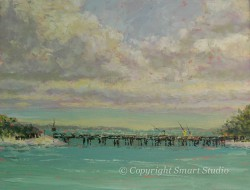 Fishing Pier by Gail Cleveland