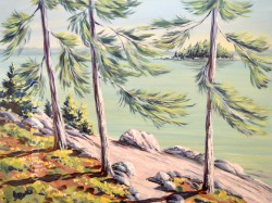 Green Lake Acrylic by Gail Cleveland