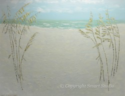 Sea Oats Acrylic by Gail Cleveland