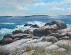 Gentle Surf, Acadia 16x20 Oil Wini Smart