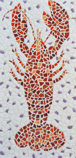 Lobster by Gail Cleveland | Mosaic 24x48 $2400
